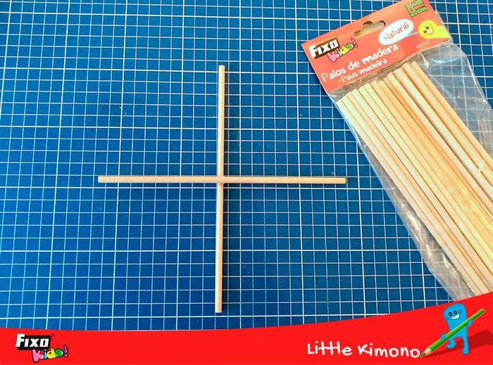 palos de madera redondos para hacer titeres para niños