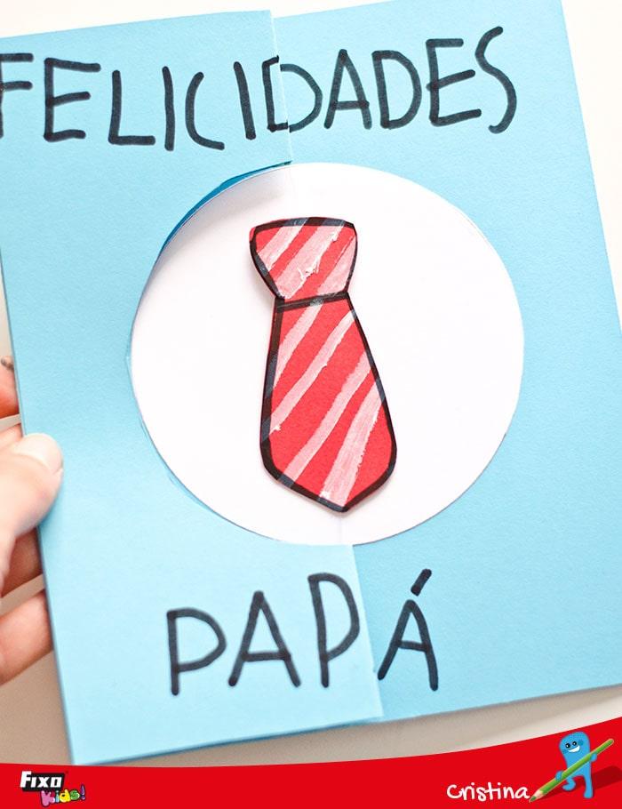 tarjeta infantil para el día del padre