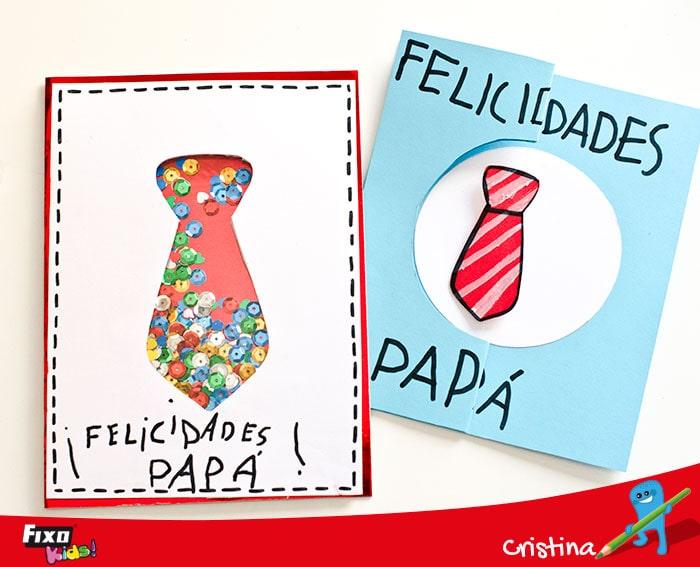 tarjetas faciles de hacer para el día del padre