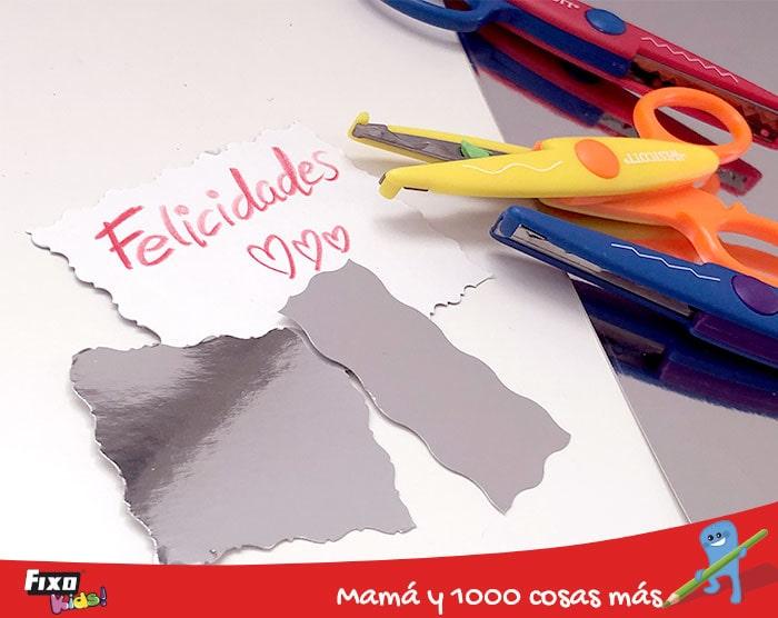 manualidades con cartulinas metalizadas fixokids