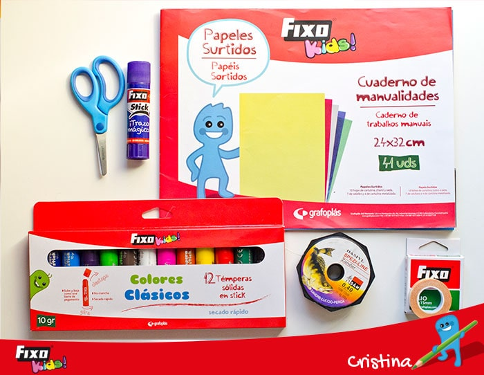 temperas solidas en stick fixo kids colores clasicos