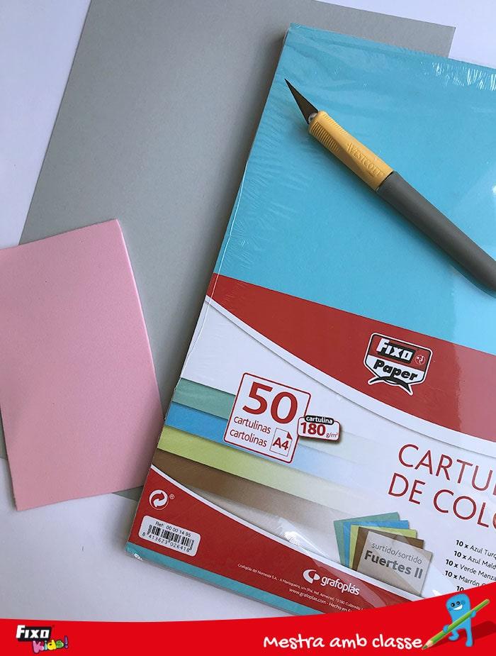 cartulinas fixo paper manualidades niños
