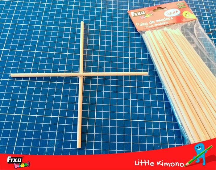 cómo hacer un movil de techo con palos de madera fixo kids