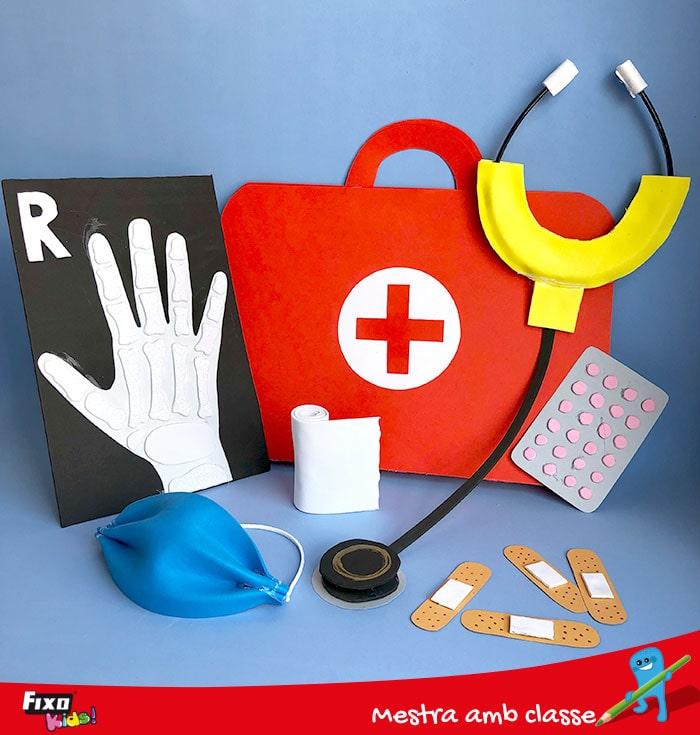 kit de médicos para niños casero