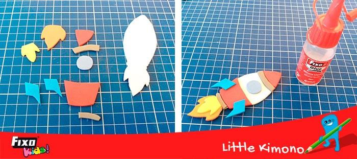 pegar goma eva con silicona líquida fixo glue