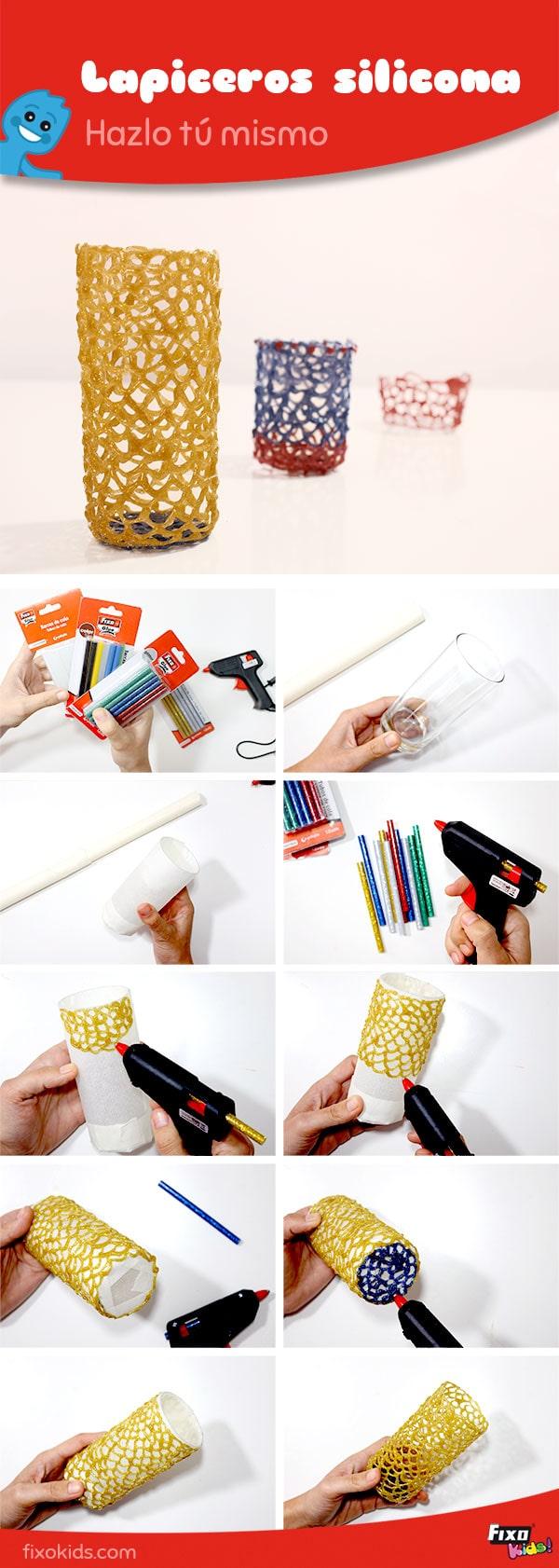 tutorial lapiceros con silicona caliente