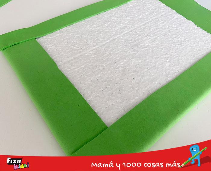 cómo cubrir corcho con goma eva adhesiva fixo kids