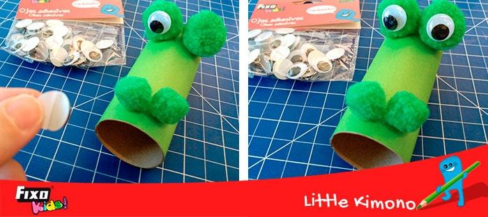 como hacer un dragon con rollos de papel