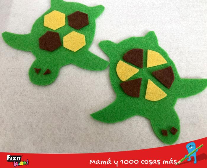 cómo hacer tortugas de fieltro para niños