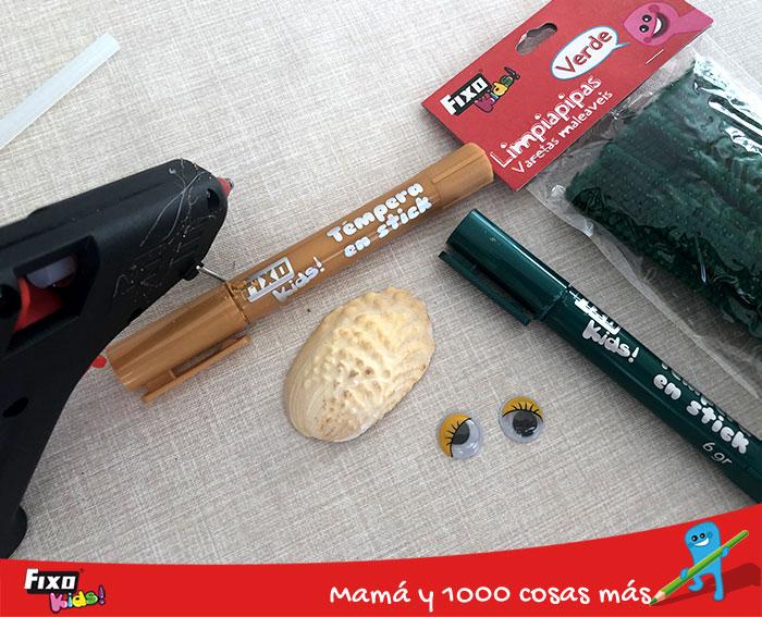 materiales para hacer tortugas con limpiapipas
