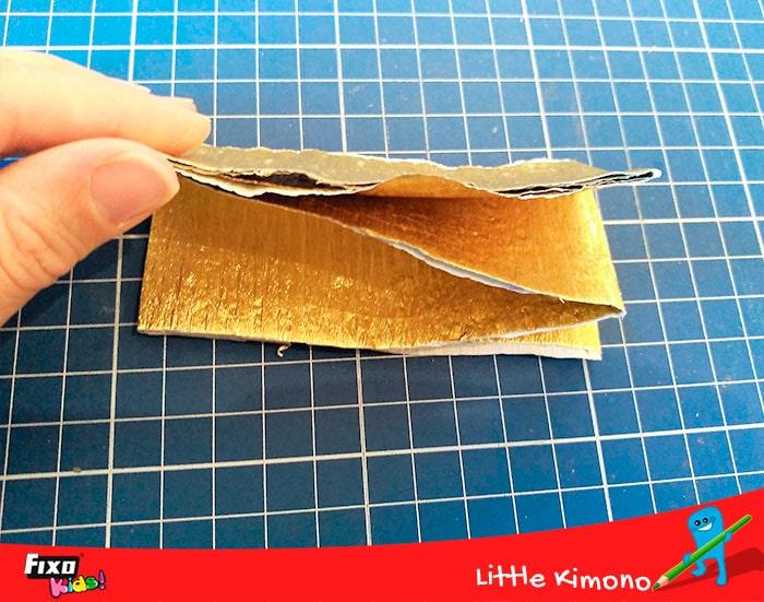 papel crespón metalizado
