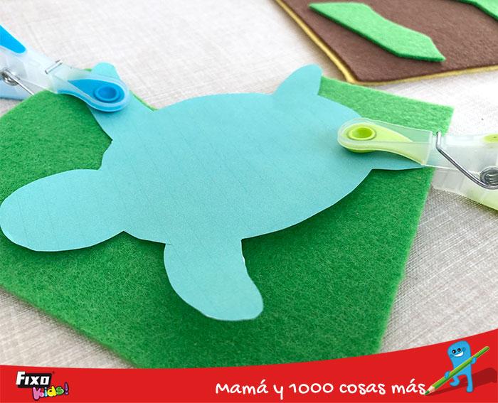 plantillas imprimibles para hacer tortugas de fieltro