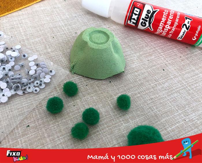 reciclaje creativo tortugas con hueveras