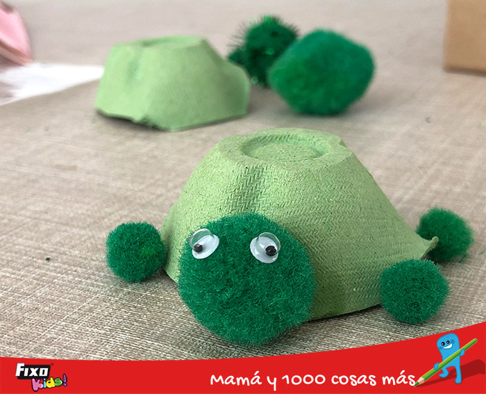 tortuga de reciclaje creativo
