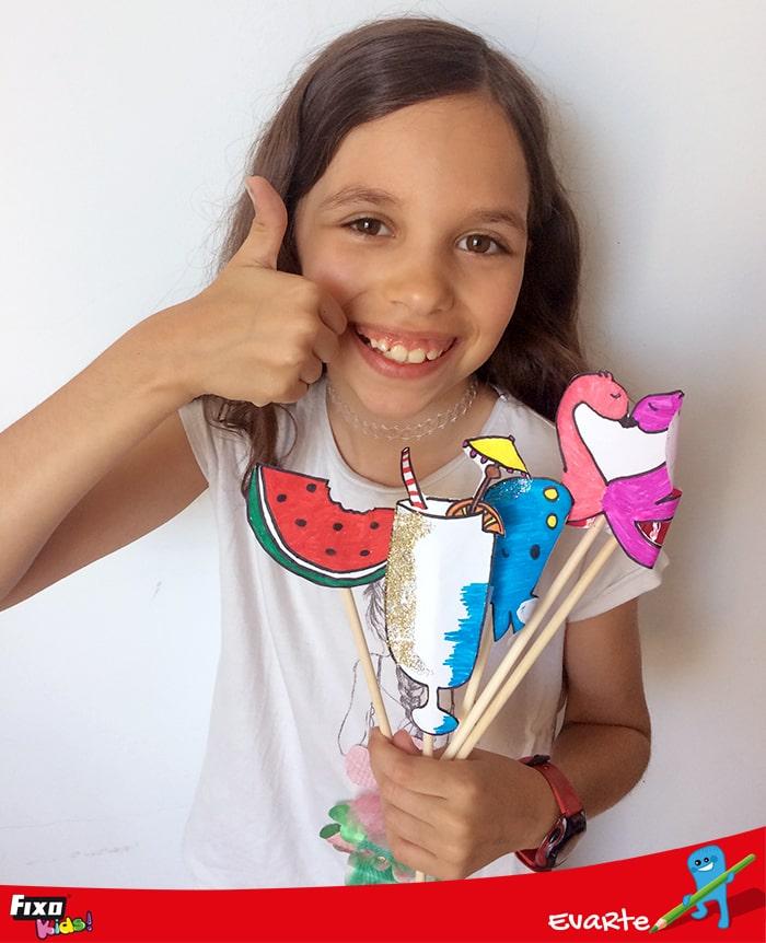 video tutorial para hacer accesorios photocall verano para niños