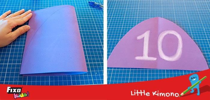 cómo hacer un cohete con goma eva de colores