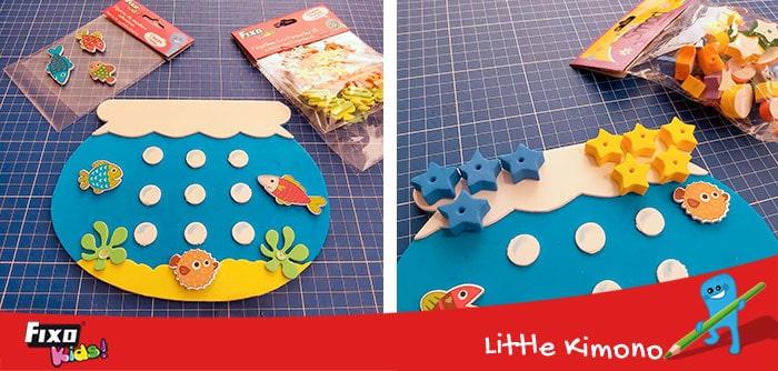 figuras adhesivas fixo para juegos infantiles