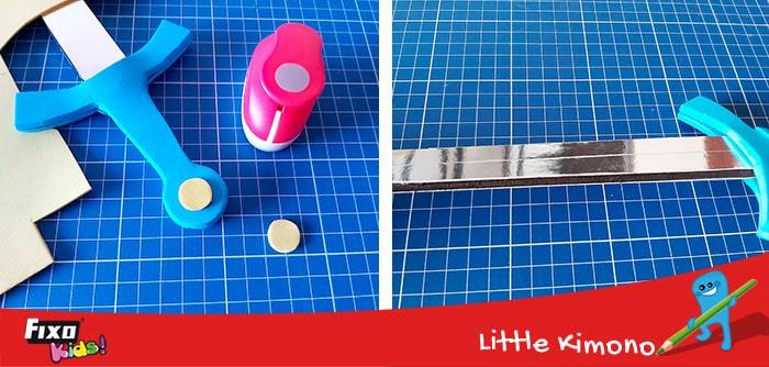 como adornar manualidades con perforadoras de formas