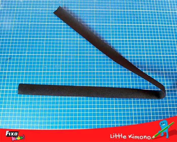 como hacer un cinturon de tela no tejido
