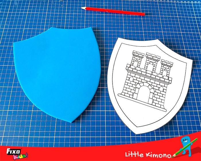 escudo medieval casero para jugar