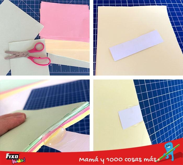 cómo encuadernar una libreta sin coser