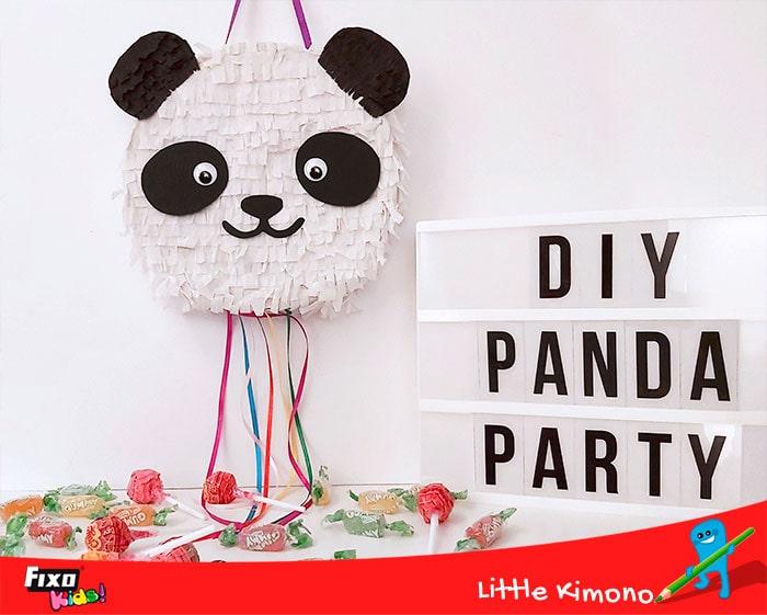 diy piñata oso panda con plantilla