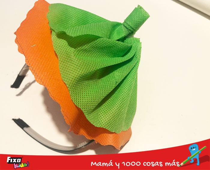 como hacer un tocado para un disfraz infantil de calabaza