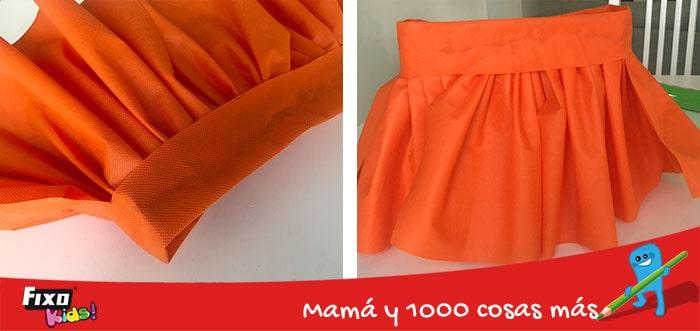 como hacer una falda infantil sin coser