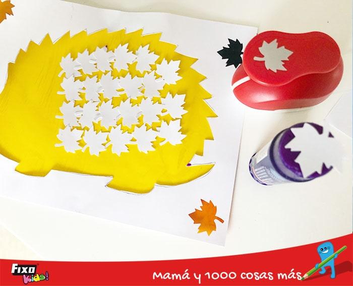 como hacer un erizo de papel
