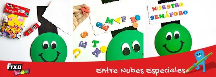 como utilizar letras adhesivas fixo kids en manualidades infantiles