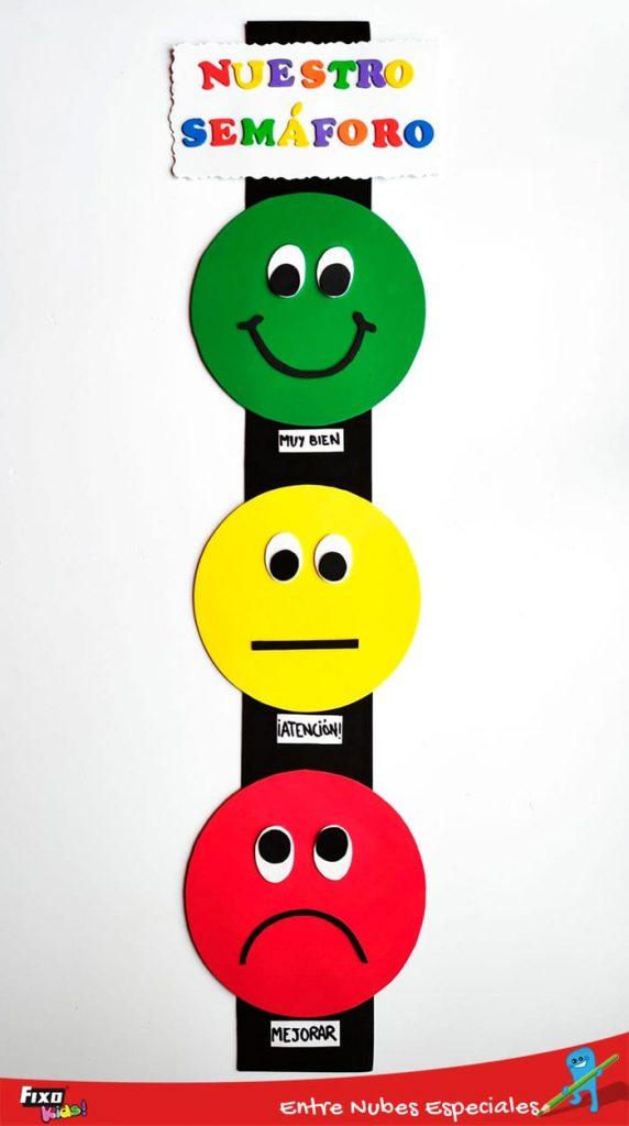como hacer un semaforo de las emociones con goma eva