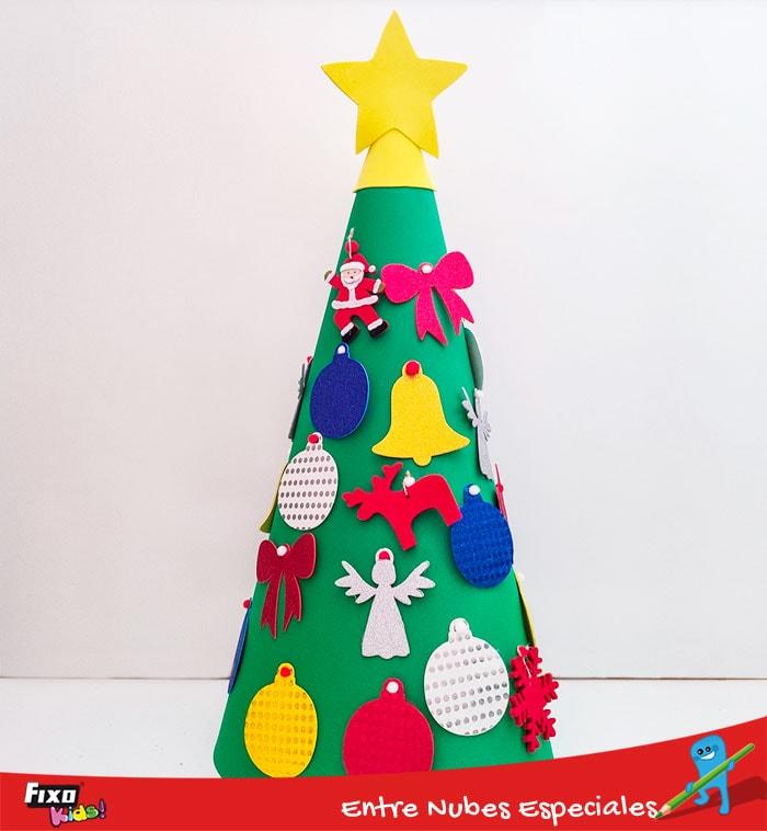 arbol de navidad en goma eva 3d