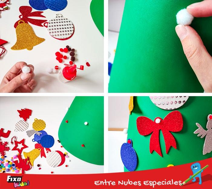 como adornar un arbol de navidad infantil facilmente