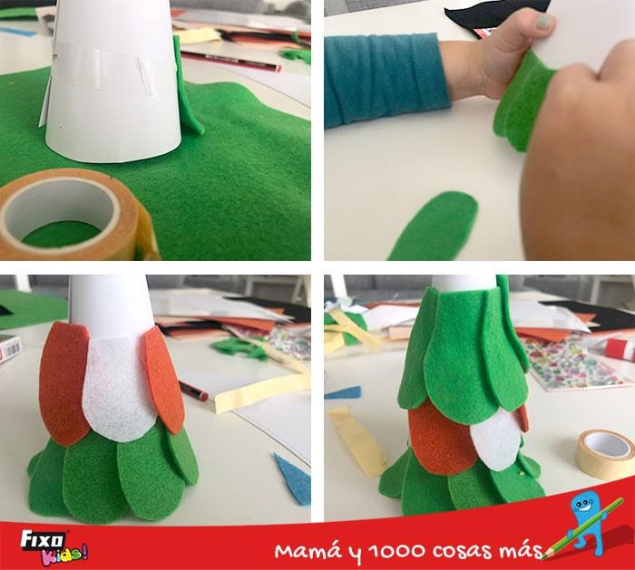 como hacer un arbol de navidad facilmente
