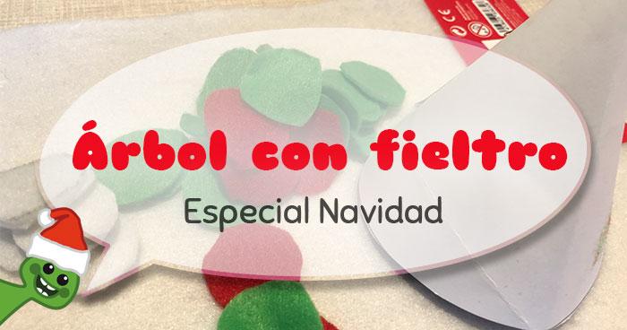 ideas faciles para decorar en navidad arbol con fieltro