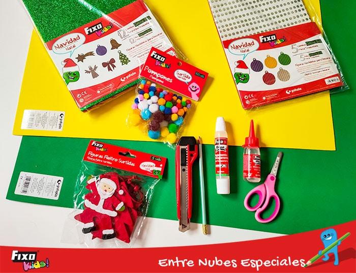 materiales de manualidades para niños navidad