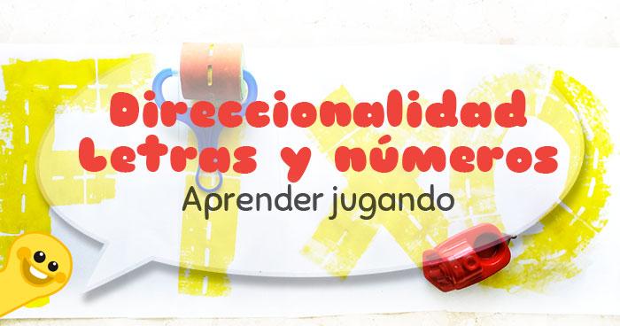 aprender la direccionalidad de letras y numeros jugando