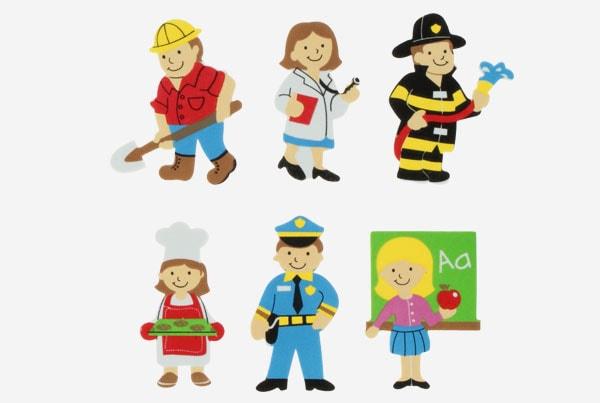 Referencia 68016400 Figuras goma Eva Adhesiva 3d profesiones fixo kids