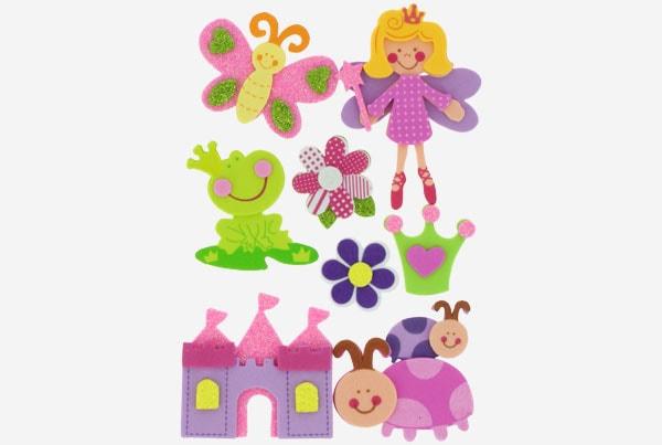 referencia 68016700 Figuras goma Eva Adhesiva 3d Princesas 2 fixo kids