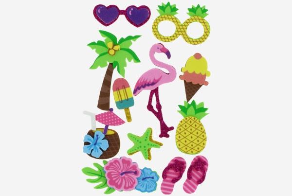 Referencia 68017500 Figuras goma Eva Adhesiva 3d Tropical 2 Fixo Kids