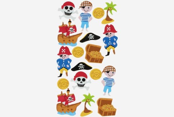 Referencia 68017600 Figuras goma Eva Adhesiva 3d Piratas Fixo Kids