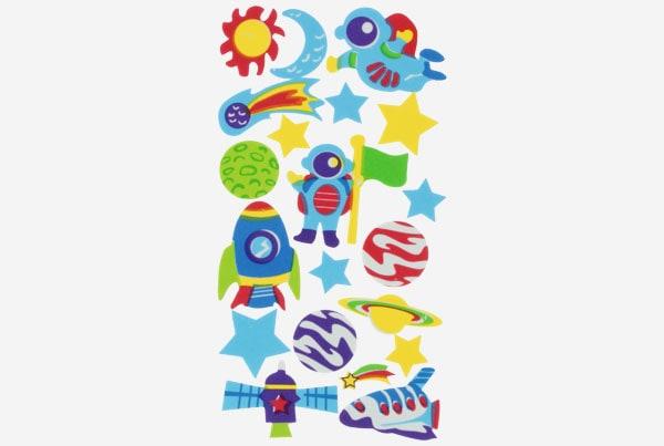 referencia 68017700 Figuras goma Eva Adhesiva 3d Espacio Fixo Kids