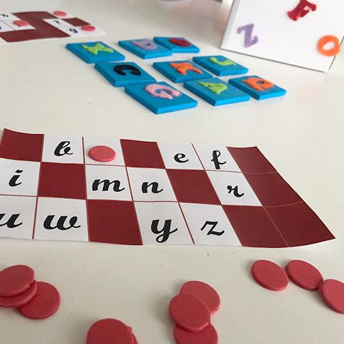 bingo de letras para niños
