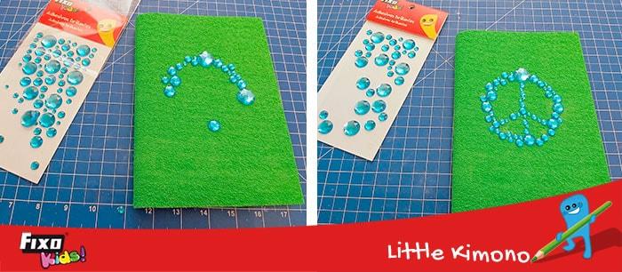 como hacer decoraciones con adhesivos brillantes