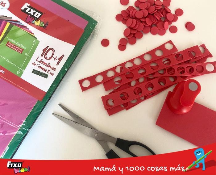como hacer fichas para jugar al bingo con foam