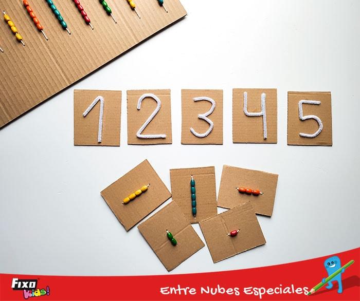 juego de asociacion de números y cantidades para niños de 3 a 7 años