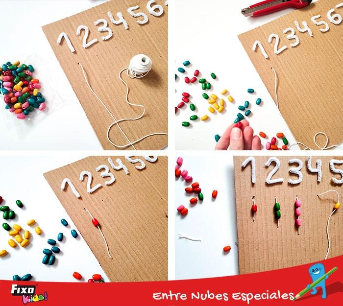 juegos infantiles con abalarios de madera