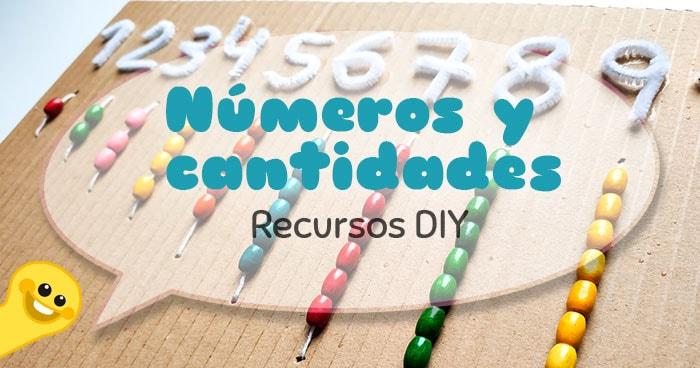 recursos diy asociacion números y cantidades