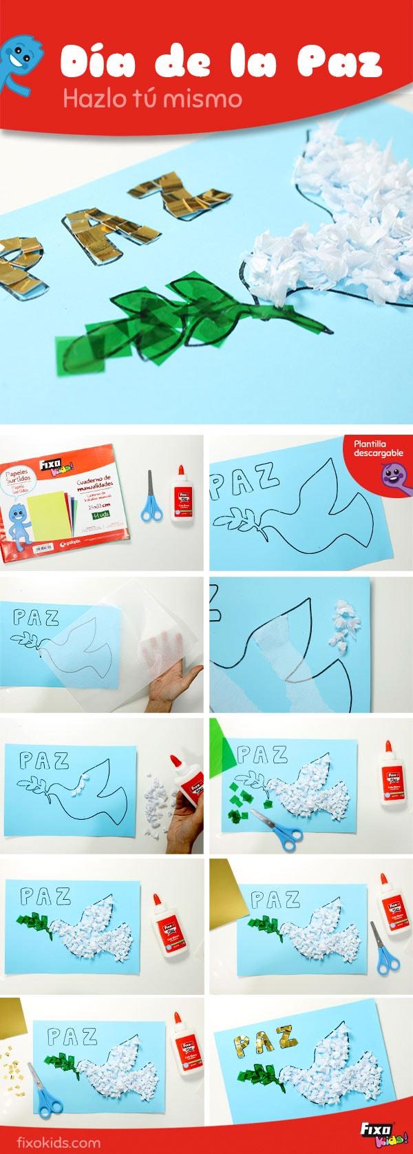 tutorial manualidad dia de la paz