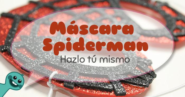 cómo hacer mascara spiderman con foam